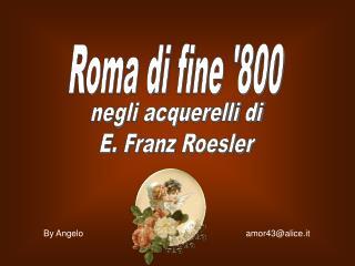 Roma di fine 800