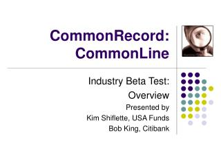 CommonRecord: CommonLine