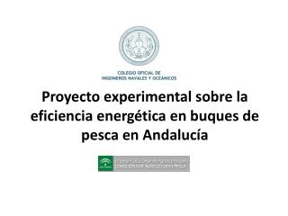 Proyecto experimental sobre la eficiencia energ tica en buques de pesca en Andaluc a