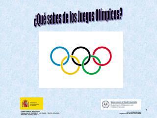 Qu  sabes de los Juegos Ol mpicos