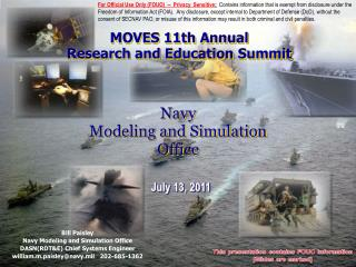 Navy Modeling and Simulation Office