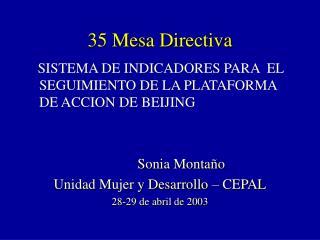 35 Mesa Directiva