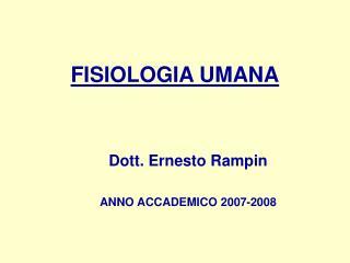FISIOLOGIA UMANA