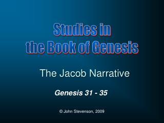 The Jacob Narrative