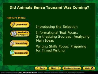 Did Animals Sense Tsunami Was Coming
