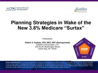 Planning Strategies in Wake of the New 3.8 Medicare  Surtax