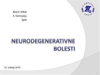 Neurodegenerativne bolesti
