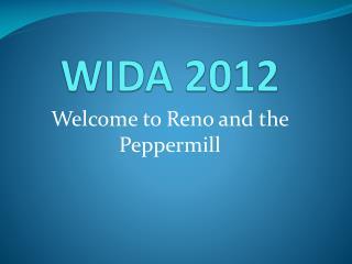 WIDA 2012