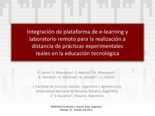 Integraci n de plataforma de e-learning y laboratorio remoto para la realizaci n a  distancia de pr cticas experimentale