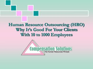 Human Resource Outsourcing HRO  Why It s Good For Your Clients  With 10 to 1000 Employees