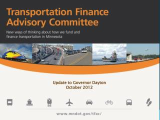 Update to Governor Dayton October 2012