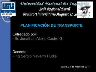 Universidad Nacional De Ingenier a Sede Regional Estel  Recinto Universitario Augusto C. Sandino