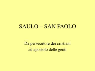SAULO   SAN PAOLO