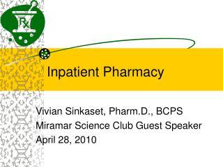 Inpatient Pharmacy