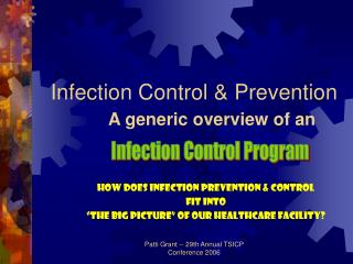 Infection Control  Prevention A generic overview of an