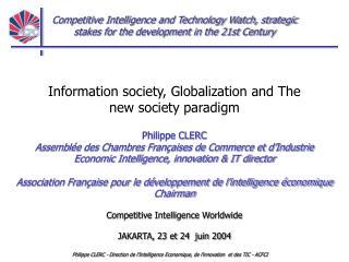 Philippe CLERC - Direction de lIntelligence Economique, de linnovation  et des TIC - ACFCI