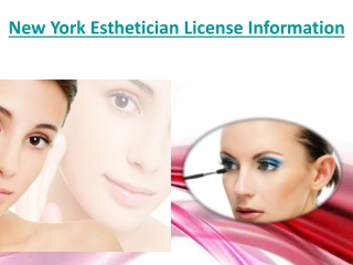 New York Esthetician License Information