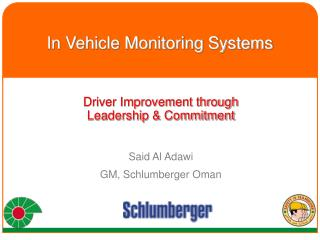 In Vehicle Monitoring Systems
