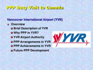 Vancouver International Airport YVR