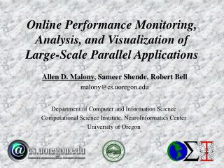 Online Performance Monitoring, Analysis, and Visualization of Large-Scale Parallel Applications