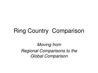 Ring Country Comparison Moving from