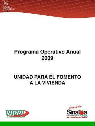 Programa Operativo Anual 2009