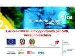 Lazio e-Citizen: un opportunit  per tutti, nessuno escluso