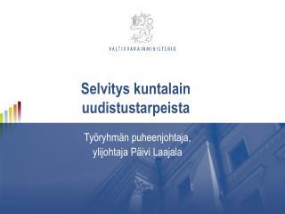 Selvitys kuntalain uudistustarpeista
