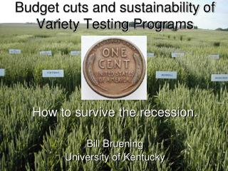 Budget cuts and sustainability of Variety Testing Programs