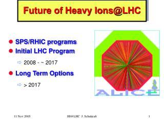 Future of Heavy IonsLHC