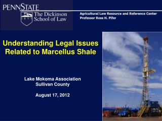 Understanding Legal Issues Related to Marcellus Shale