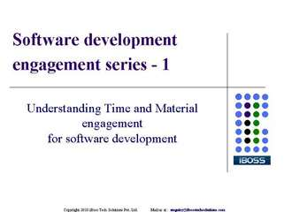 understanding time and material engagement for software deve