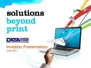 Investor Presentation June 2011