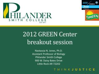 2012 GREEN Center  breakout session