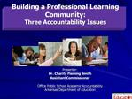 Building a Professional Learning Community:   Three Accountability Issues