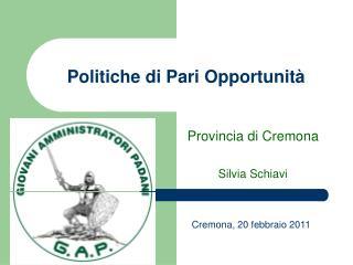 Politiche di Pari Opportunit