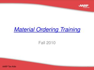 Material Ordering Training