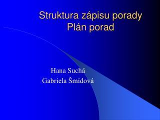 Struktura z pisu porady Pl n porad