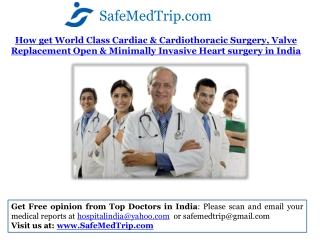 How get World Class Cardiac & Cardiothoracic Surgery, Valve