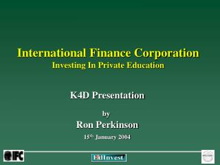 International Finance Corporation Investing In Private Education