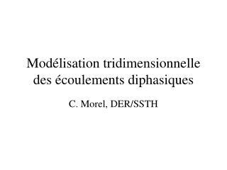 Mod lisation tridimensionnelle des  coulements diphasiques