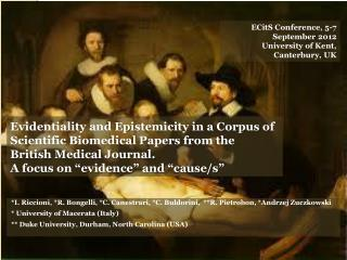 Evidentiality and Epistemicity in a Corpus of Scientific Biomedical Papers from the British Medical Journal.  A focus on