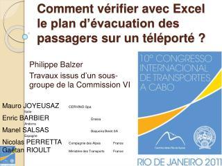 Comment v rifier avec Excel le plan d  vacuation des passagers sur un t l port