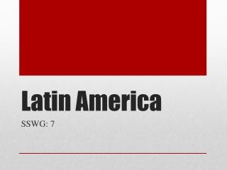 Landforms  Resources: Latin America