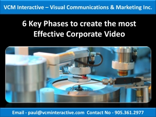 6 Key Phases to create the most Effective Corporate Video