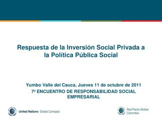 Respuesta de la Inversi n Social Privada a la Pol tica P blica Social
