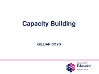 Capacity Building   GILLIAN BOYD