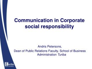 Communication in Corporate social responsibility
