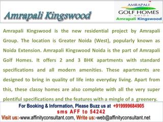 Amrapali Kingswood @ 9999684905