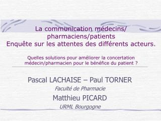 La communication m decins